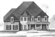 European Style House Plan - 5 Beds 4.5 Baths 4326 Sq/Ft Plan #119-105 Exterior - Other Elevation