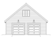 Country Exterior - Front Elevation Plan #932-132