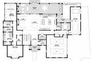 Craftsman Style House Plan - 4 Beds 6.5 Baths 4491 Sq/Ft Plan #928-321 Floor Plan - Main Floor Plan