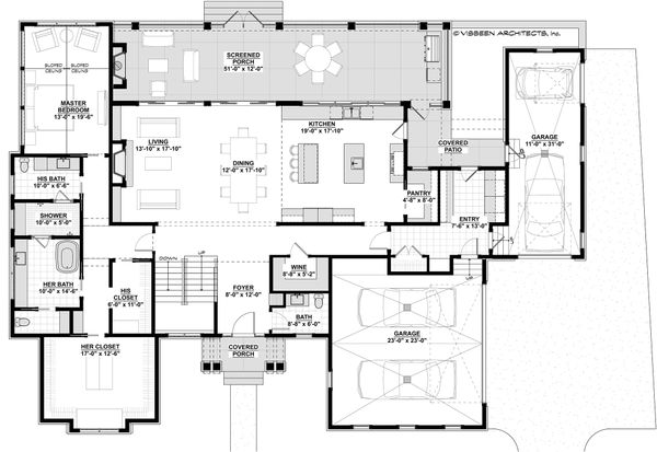 Craftsman Floor Plan - Main Floor Plan #928-321