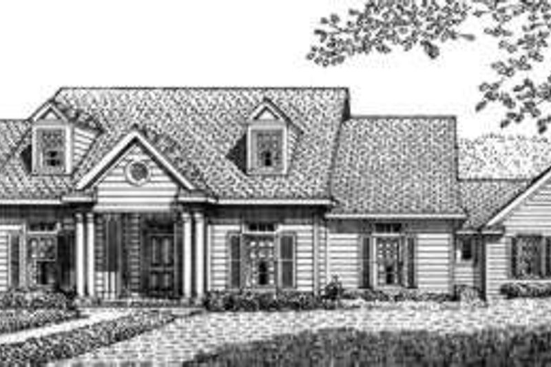 Country Exterior - Front Elevation Plan #410-242