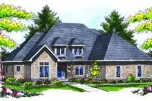 European Exterior - Front Elevation Plan #70-731