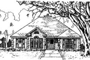 Traditional Exterior - Front Elevation Plan #37-160