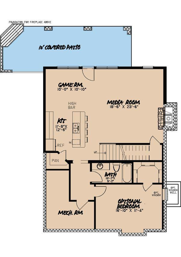 Cabin Floor Plan - Lower Floor Plan Plan #923-25