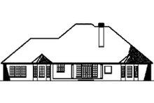 House Plan Design - European Exterior - Rear Elevation Plan #17-2193