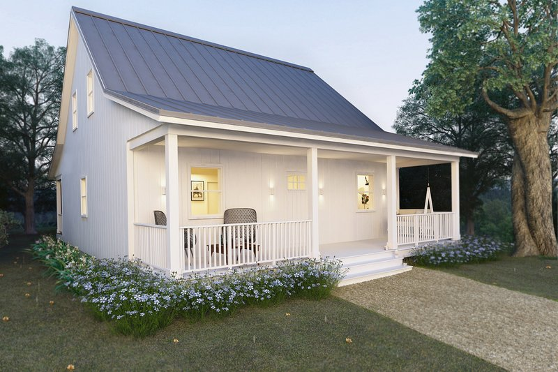 House Blueprint - Cabin Plan - Front Elevation