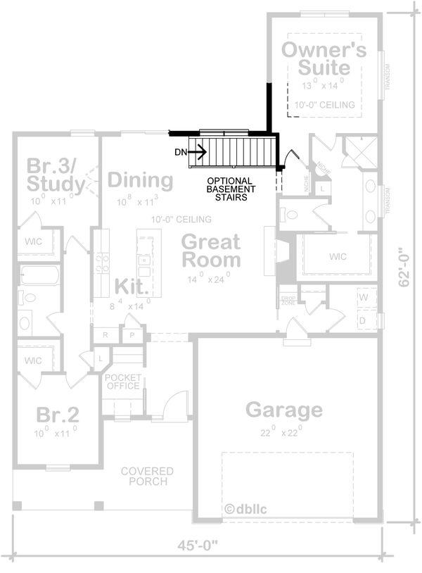 Farmhouse Floor Plan - Other Floor Plan Plan #20-2393