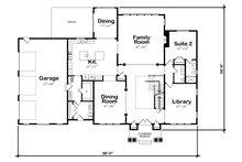 Classical Floor Plan - Main Floor Plan Plan #20-2385