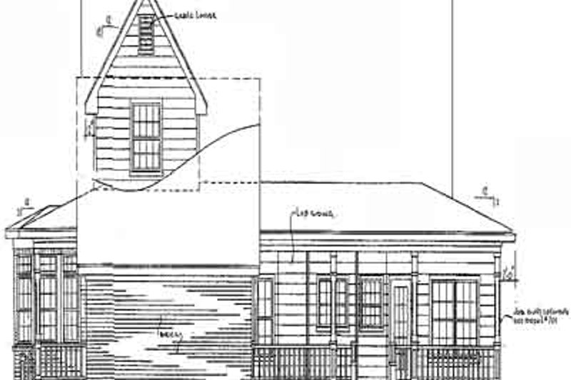 Country Exterior - Rear Elevation Plan #14-201 - Houseplans.com