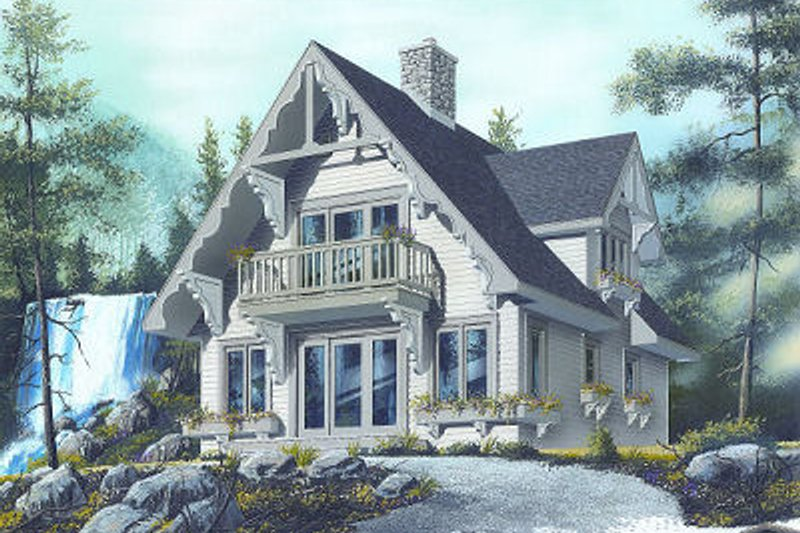 European Exterior - Front Elevation Plan #23-868