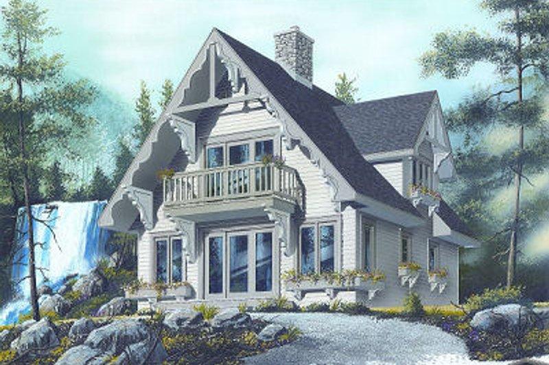 European Exterior - Front Elevation Plan #23-868 - Houseplans.com