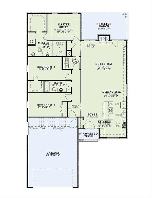 Traditional Floor Plan - Main Floor Plan Plan #17-2610