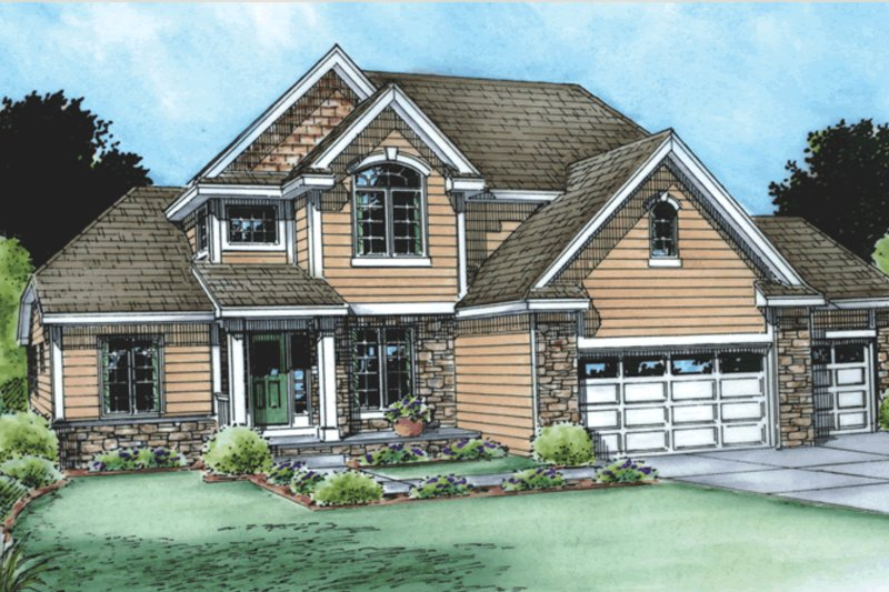 Traditional Exterior - Front Elevation Plan #20-1763 - Houseplans.com