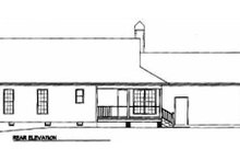 House Plan Design - Country Exterior - Rear Elevation Plan #41-105