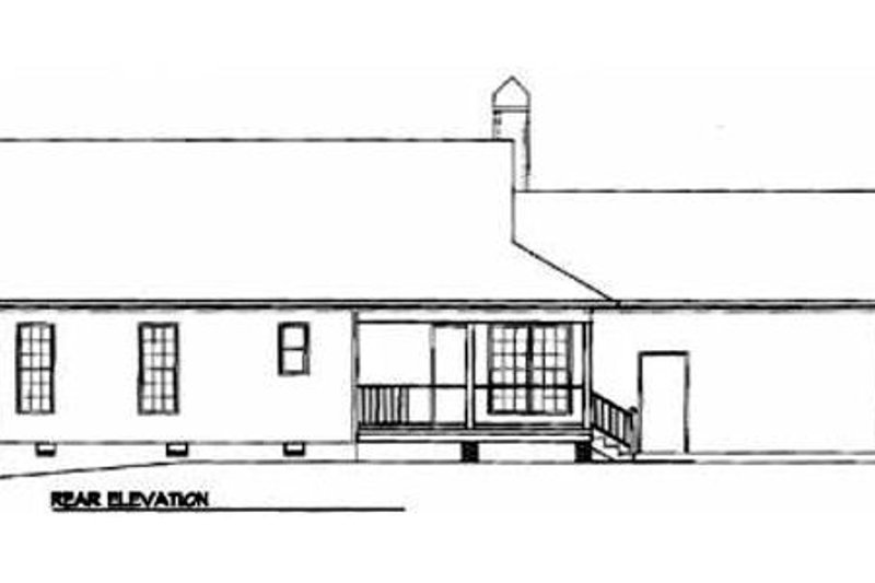 Country Exterior - Rear Elevation Plan #41-105 - Houseplans.com