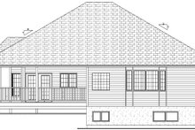 House Design - Craftsman Exterior - Rear Elevation Plan #126-224
