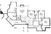 Craftsman Style House Plan - 4 Beds 3.5 Baths 4732 Sq/Ft Plan #48-233 Floor Plan - Lower Floor Plan