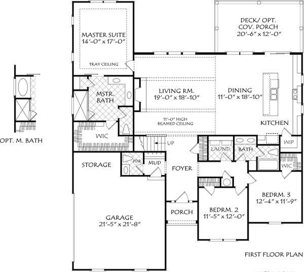Farmhouse Floor Plan - Main Floor Plan #927-1016