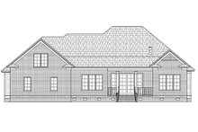Ranch Exterior - Rear Elevation Plan #1054-25