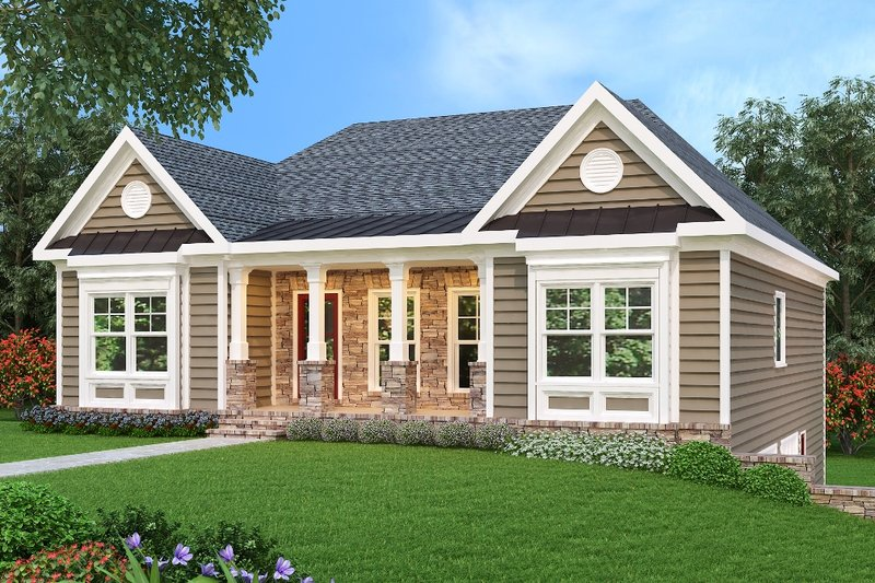 Traditional Exterior - Front Elevation Plan #419-170 - Houseplans.com