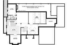 Craftsman Floor Plan - Lower Floor Plan Plan #928-321