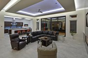 Contemporary Style House Plan - 4 Beds 4 Baths 3536 Sq/Ft Plan #935-18 Interior - Family Room