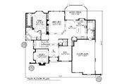 European Style House Plan - 4 Beds 3.5 Baths 3794 Sq/Ft Plan #70-546 Floor Plan - Main Floor Plan