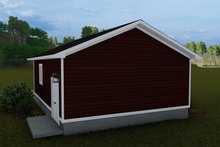 Dream House Plan - Traditional Exterior - Rear Elevation Plan #1060-92