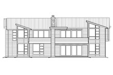 House Plan Design - Modern Exterior - Rear Elevation Plan #48-457