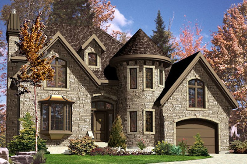European Style House Plan - 3 Beds 2.5 Baths 2121 Sq/Ft Plan #138-336 Exterior - Front Elevation