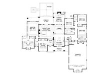 Ranch Floor Plan - Main Floor Plan Plan #929-1050