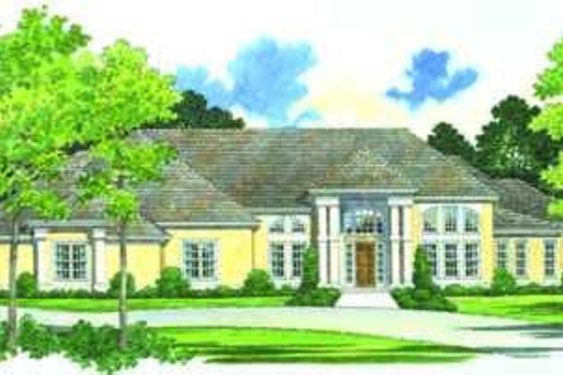 Traditional Exterior - Front Elevation Plan #72-162 - Houseplans.com