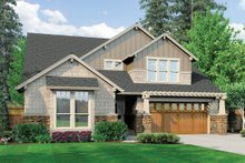 Home Plan - Front View - 3400 square foot Craftsman home