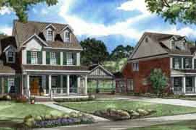 Dream House Plan - Traditional Exterior - Front Elevation Plan #17-2213