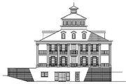 Southern Style House Plan - 5 Beds 5.5 Baths 5689 Sq/Ft Plan #17-280 Exterior - Rear Elevation