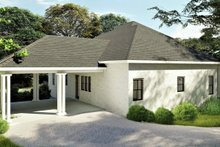 Bungalow Exterior - Rear Elevation Plan #44-238