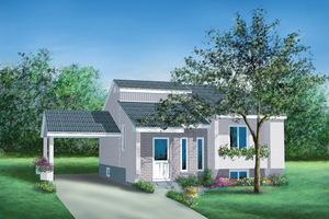 Contemporary Exterior - Front Elevation Plan #25-1171