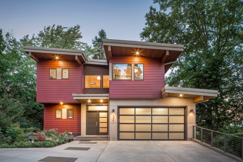 Home Plan - Contemporary Exterior - Front Elevation Plan #48-656