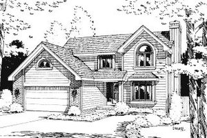 Traditional Exterior - Front Elevation Plan #20-572