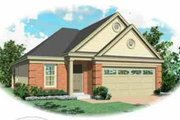 European Style House Plan - 3 Beds 2 Baths 1335 Sq/Ft Plan #81-178 Exterior - Front Elevation