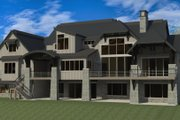 Craftsman Style House Plan - 5 Beds 6.5 Baths 8688 Sq/Ft Plan #920-49 Exterior - Rear Elevation