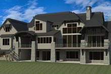 Craftsman Exterior - Rear Elevation Plan #920-49