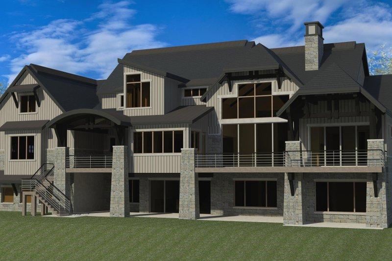 Dream House Plan - Craftsman Exterior - Rear Elevation Plan #920-49
