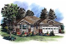 House Blueprint - Traditional Exterior - Front Elevation Plan #18-1014