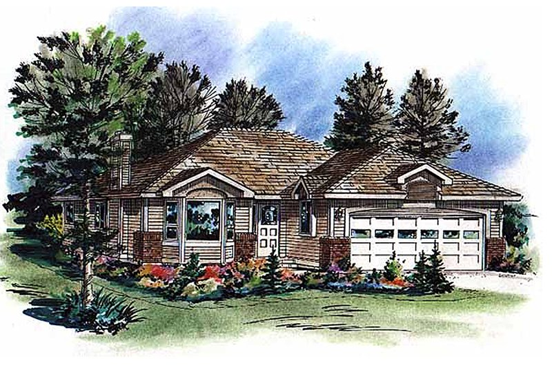 Traditional Exterior - Front Elevation Plan #18-1014