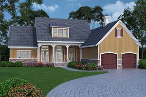 House Plan Design - Farmhouse, Front Elevation, Energy Saving