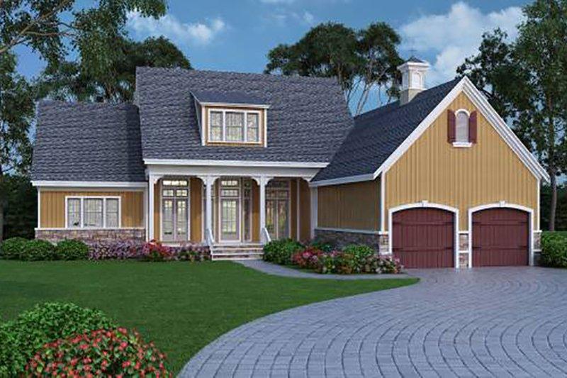 House Plan Design - Farmhouse, Front Elevation, Energy Saving