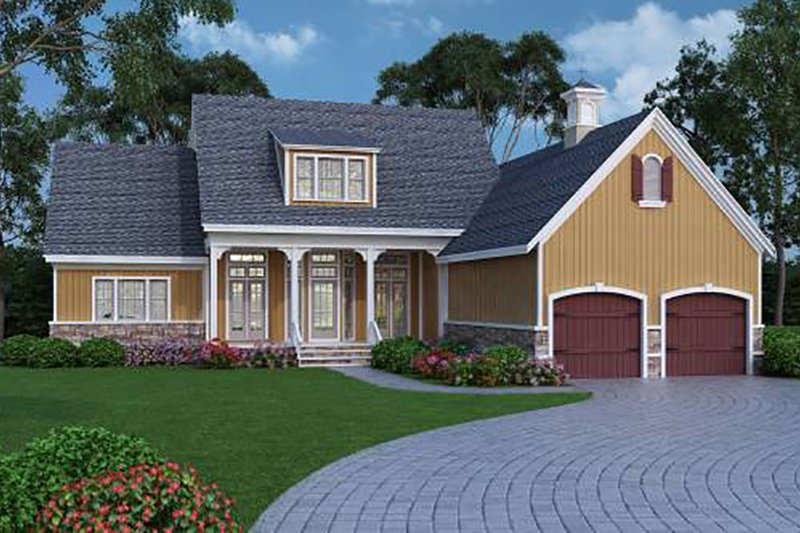 Home Plan - Farmhouse, Front Elevation, Energy Saving