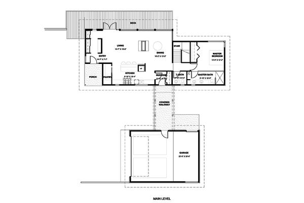 Modern Floor Plan - Main Floor Plan #498-1