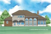 Mediterranean Style House Plan - 4 Beds 4 Baths 3552 Sq/Ft Plan #930-479 Exterior - Rear Elevation